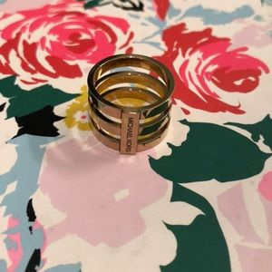 Michale Kors Gold 3 level ring! Size 7!